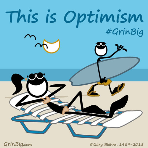 Optimism is Alive and Well on the Beach with these Beach Lovers. This is Optimism #ThisIsOptimism