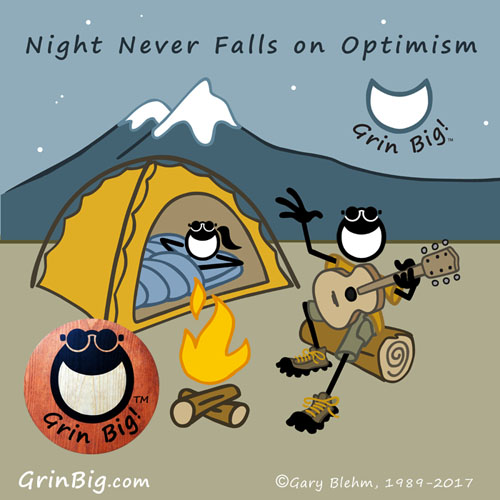 Night Never Falls on Optimism. Always remember to bring a guitar when you're camping in the outdoors. This is Optimism #ThisIsOptimism